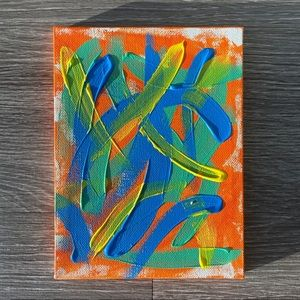 """Nickelodeon in the 90's."" abstract art painting"